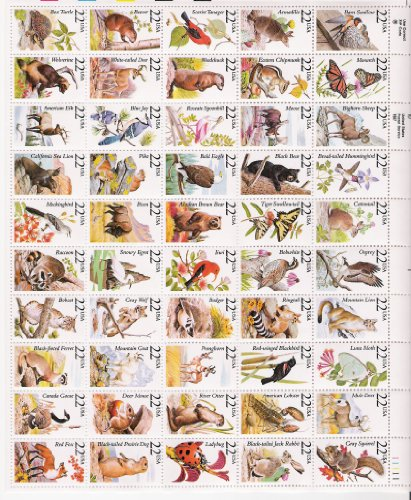 north-american-wildlife-complete-sheet-of-50-x-22-cents-stamps-2286-2335