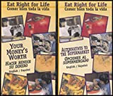 Eat Right For Life Series: The Basics, Alternatives to the Supermarket, Your Money's Worth, Mexican and Navajo Dishes, Nutrition During Pregnancy (Coma bien para la vida) [Dual English/Spanish] 5 VHS Videos