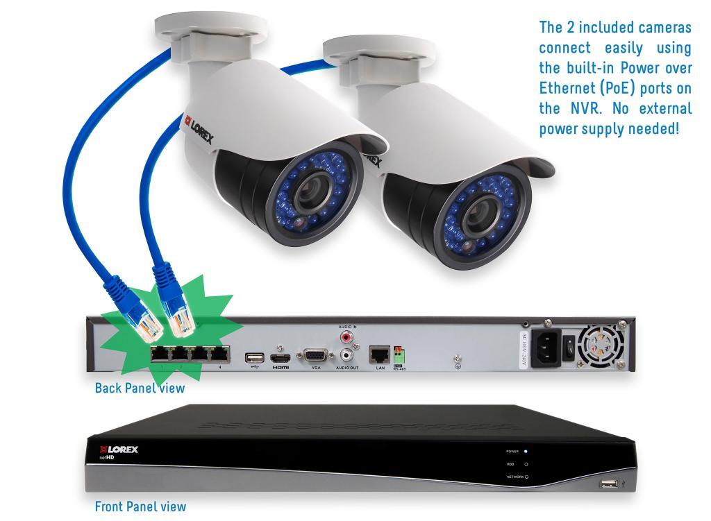 Amazon Com Lorex Lnr341c2b 4 Channel 1tb Nvr 2 X 1080p