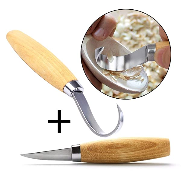 Wood Carving Hook Knife for Carving Spoons Bowls kuksa and