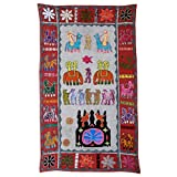 Rajrang Home Décor Embroidered Patch Work Gray Wall Hanging - B00TQRK0H6