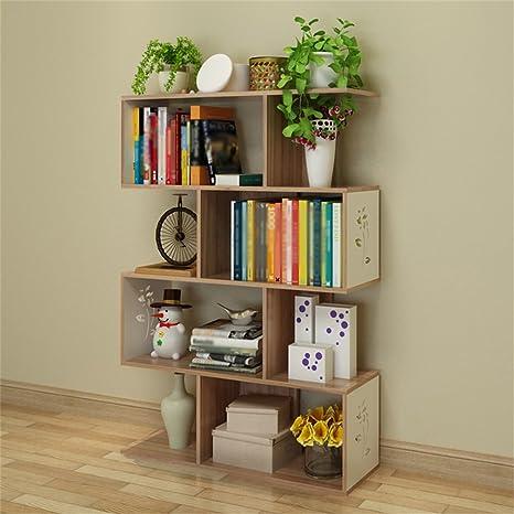HORS Bookshelf semplice Libreria di personalità creativa Piccole Librerie atterraggio semplice mensola Espositori Storage Box Armadietti ( Colore : B , dimensioni : Quattro )