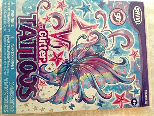 50+ Glitter Temporary Tattoos - Fantasy - 1