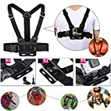 Luxebell 10-in-1 Value Pack Accessories Kit for Gopro Hero 4 Session Black Silver Hero+ LCD 3+ 3 2 Camera - Head Strap / Chest Harness Mount / Floating Grip / Handheld Monopod