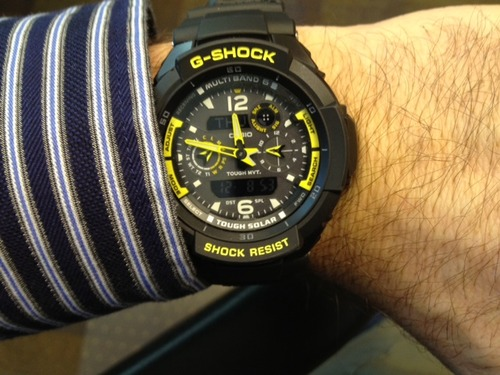 SHOCK The G-Aviation Multi-Mission Combi Watch in Black,Watches for