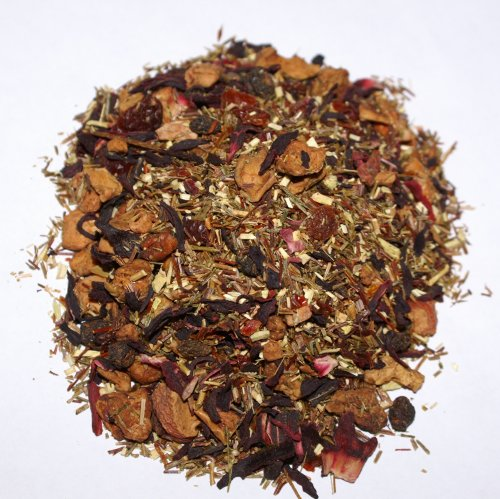 Organic Fruit Tea Mrs. Bryant'S Colonial Loose Leaf Hand Blend - 2 Pack Makes 120 Cups (1.6 Oz Per Pack) - A Gourmet Cornucopia Of Dried Fruits Blended With Honey Bush, Rose Hips, Hibiscus & Green Rooibus - No Sugar Added, Caffeine Free, Organic, Hand-Ble
