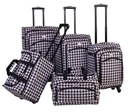 american-flyer-brickwall-5-piece-spinner-luggage-set-black-white-one-size