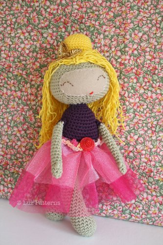 Crochet doll pattern, princess doll pattern, princess girl crochet pattern, girl doll pattern (102)