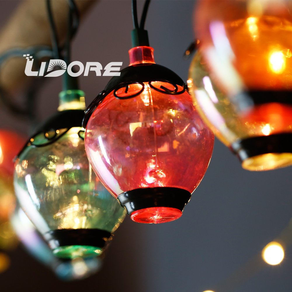 LIDORE Ancient Lantern String light. New verson. 110V, Warm White Light 2