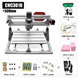 2 in 1 CNC Laser Cutting and Engraving Machine 500mW Class 4 Desktop CNC3018 for Wood, Acrylic & PVC. Made for Small Business and Creative Talents