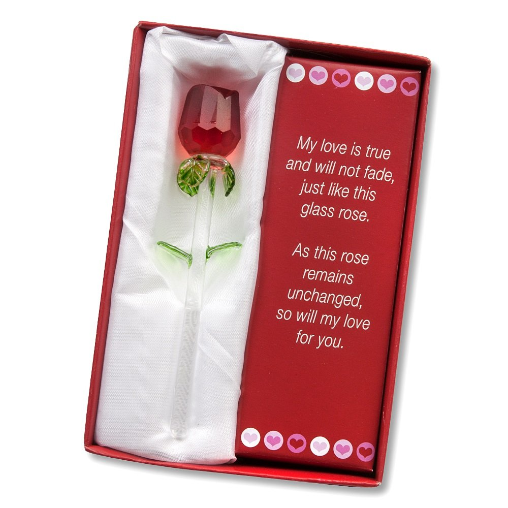 New valentines handmade glass business gifts flowers box for Best gift of valentine day