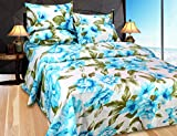 Hargunz cotton Double Bedsheet With 2 Pillow Covers-Blue(BMW-fsy-blue)