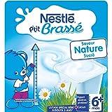 Nestlé Bébé P'tit Brasse Laitage Nature dès 6 mois 4 x 100 g - Lot de 6 (24 pots)