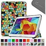 Fintie Samsung Galaxy Tab 4 10.1 Hülle Case - Ultra Schlank Superleicht Ständer Smart Shell Schutzhülle Tasche Cover mit Auto Schlaf / Wach Funktion für Samsung Galaxy Tab 4 10.1 SM-T530 SM-T535, Mosaic