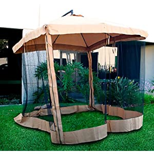Deluxe 10 Tan Patio Garden Offset Outdoor