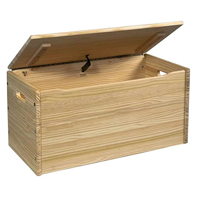 Toy Box Large Solid Wood Storage Chest Trunk Playroom: Toy Chest Kit