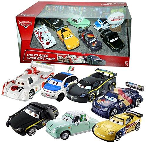 Mattel Disney Cars Cast 1:55 - Gift Pack Tokyo Race - 7 Auto Fahrzeuge im Set