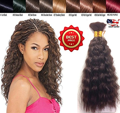 Hot selling Wet N Wavy Bulk hair, Human Hair Quality 2 Pack deal Super Bulk Style for Micro Braiding or Crochet Braiding, Length 18 Inches Color Rich Copper Red #33 (Red Wet And Wavy Hair compare prices)