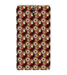 Modern Art Design Flower Pattern 3D Hard Polycarbonate Designer Back Case Cover for Sony Xperia C5 Ultra Dual :: Sony Xperia C5 E5533 E5563