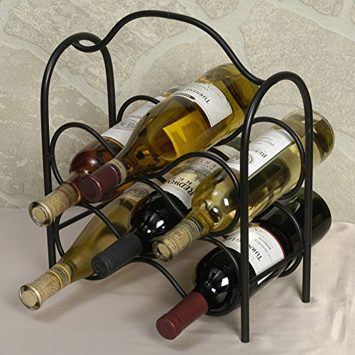 J&J Wire Wine Rack, Holds Six Bottles