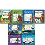 Julia Donaldson The Gruffalo Colouring and Activity Children 8 Books Set Pack (the gruffalo acitvity and colouring book, the gruffalo's child, room on the broom, and the snail and the whale)