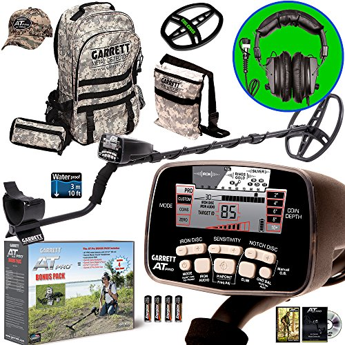 garrett-at-pro-metal-detector-bonus-pack-with-headphones-backpack-pouch-hat-and-searchcoil-cover