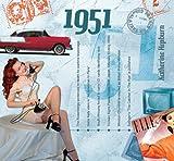 61. Geburtstag Geschenken – 1951 Chart Hits CD und 1951 Geburtstagskarte