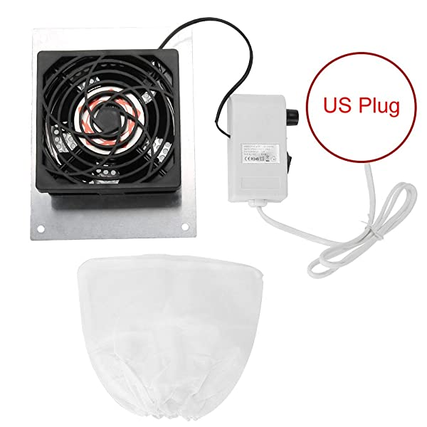 Nail Dust Collector, Nail Art Suction Manicure Desktop Embedded Vacuum Cleaner Manicure Tools(US Plug) (Tamaño: US Plug)