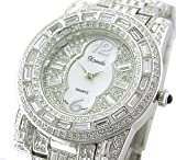 *WOW* Ladies / Men 18K SILVER Plated BLING Watch Made with SWAROVSKI Elements