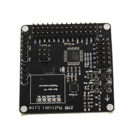 Goliton® carte de contrôle de vol de quatre axes MWC MultiWii Lite version légère de support d'arbre 2-8 soutien F450 550 DJI-Noir