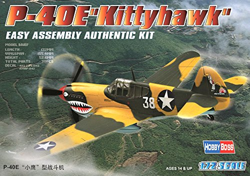 Hobby Boss P-40E Kittyhawk Airplane Model Building Kit