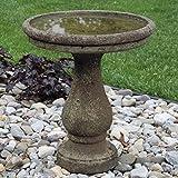 Chelsea Cast Stone Round Garden Bird Bath
