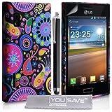 LG Optimus L5 E610 Zubehör Tasche Silikon Gel Qualle Hülle Mehrfarbig Mit Griffel Stift