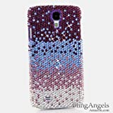 BlingAngels® Luxury Swarovski Crystal Diamond Bling Purple Faded to Silver Design Case Cover for Samsung Galaxy S4 S IV i9500 fits Verizon, AT&T, T-mobile, Sprint and other Carriers (100% Handcrafted by BlingAngels with Pink Carrying Pouch)