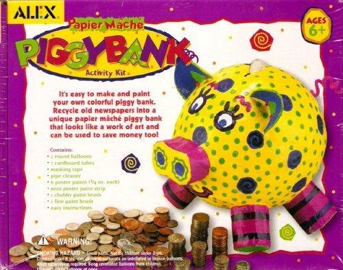 Papier Mache Piggy Bank Activity Kit by ALEX Toys