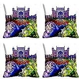MeSleep Beautiful Scenery 3D Cushion Cover (16x16)- 4 Pc