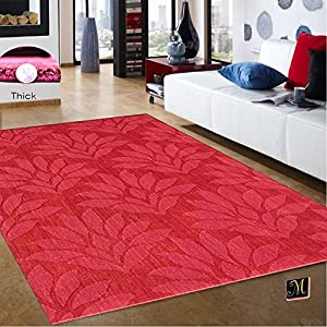Burgundy living room contemporary modern wool for Living room rugs amazon