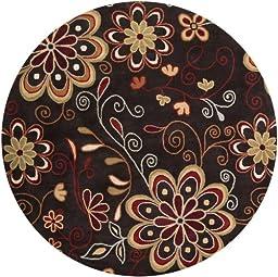 Surya Athena Chocolate-Red 4\' Contemporary Area Rug