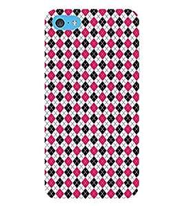 HiFi Designer Phone Back Case Cover Apple iPhone 6 Plus :: Apple iPhone 6+ ( Pink Black White Diamond Colorful Pattern Design )