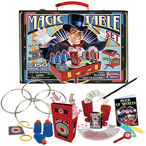 Fantasma-Toys-Retro-Magic-Table-Set-Loaded-with-Props-and-Featuring-150-Magic-Tricks-Includes-Instructional-Video-Download-and-Book-of-Secrets-Ages-6-and-Up