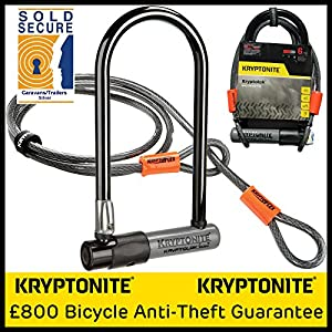 kryptolok series 2 std bike u lock with 4 foot kryptoflex cable. Black Bedroom Furniture Sets. Home Design Ideas