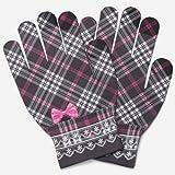 ピタクロ 手袋(ピタクロタッチチェックリボン手袋) レディス 【ピンク/F】
