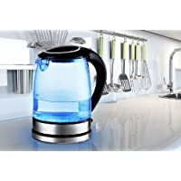 Sashtime 2L 2200W Cordless Electric Glass Kettle with LED light (Black or White)