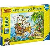 Ravensburger 10628 - Mauseschlau und Bärenstark Piraten auf See 100 Teile XXL Puzzle