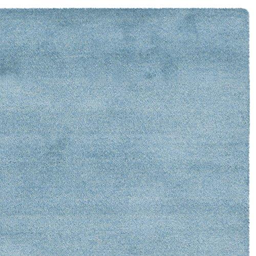 Safavieh Himalaya Collection HIM610D Handmade Blue Wool Area Rug, 4 feet by 6 feet (4' x 6')