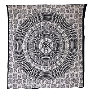 Beautiful Patchwork Design Wall Hanging Tapestry With Sequins Beads Mirrors Zari & Thread Embroidery Work , 152 X 101 Cm by Rajasthali