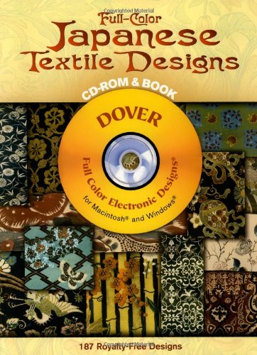 Full-Color Japanese Textile Designs CD-ROM and Book (Dover Electronic Clip Art)