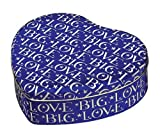 Emma Bridgewater Big Love Heart shaped Tin, Blue