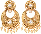 Violet and Purple Alloy Gold Plated Hoop Earrings for Women (1000028653)