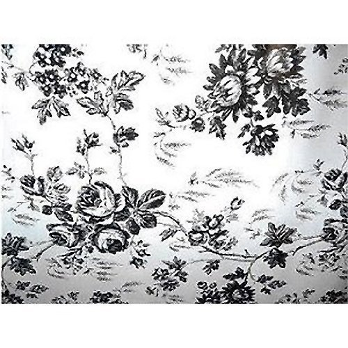 1 X Black And White Flower Toile Contact Paper 4.5 Ft By 18 In By Kittrich Corporation Software